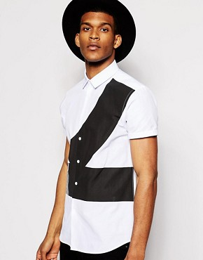 ASOS Shirt In Short Sleeve With Abstract Print