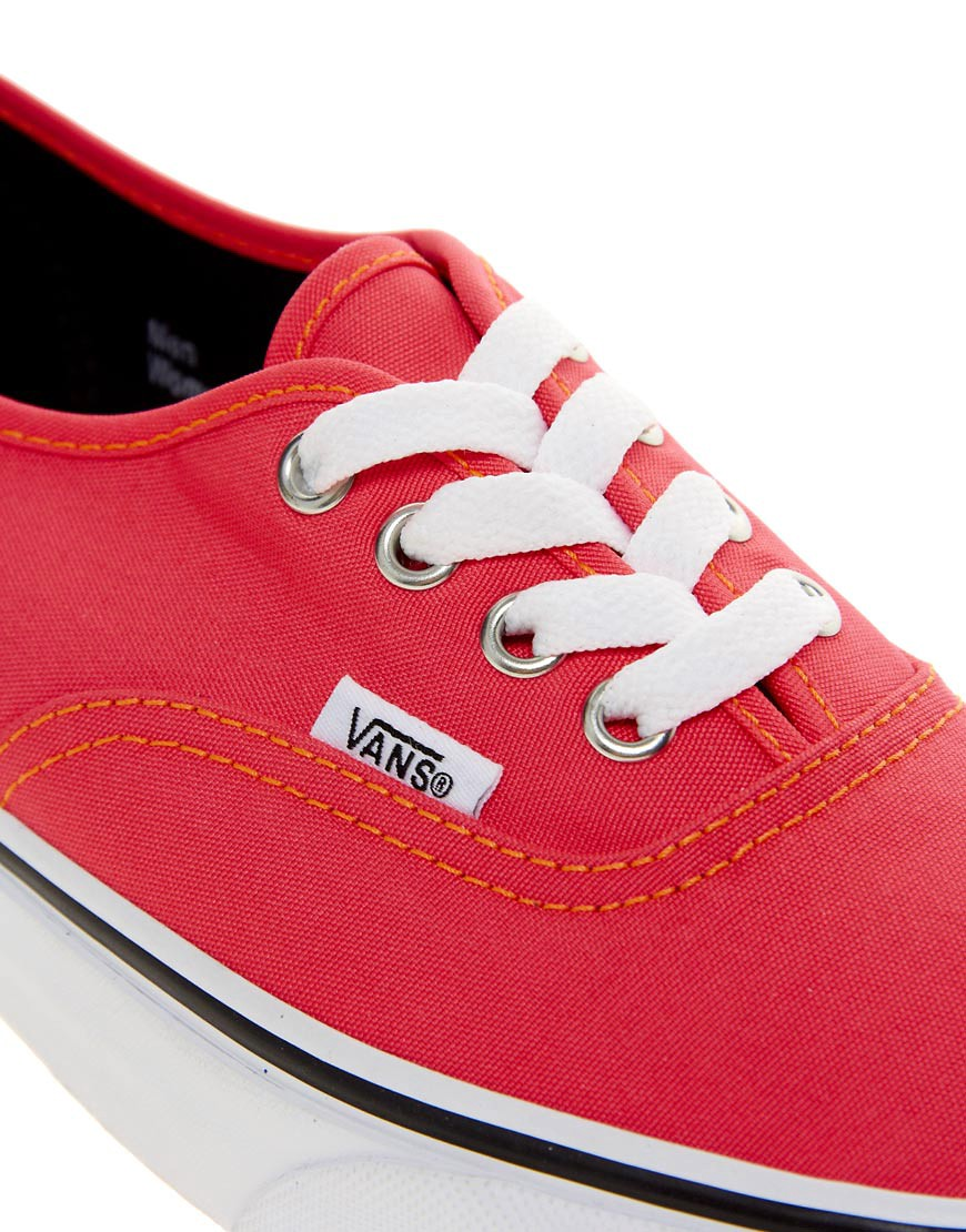 Image 2 of Vans Authentic Neon Red Trainers