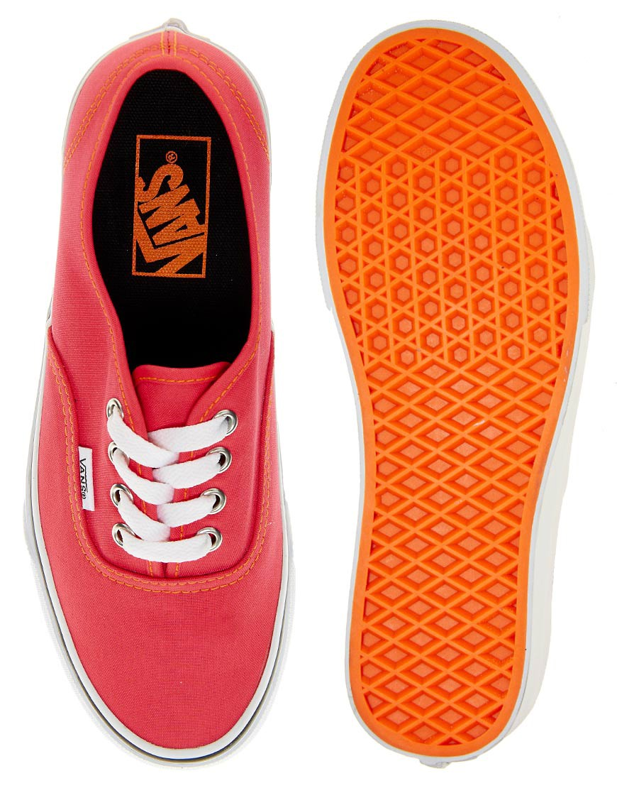 Image 3 of Vans Authentic Neon Red Trainers