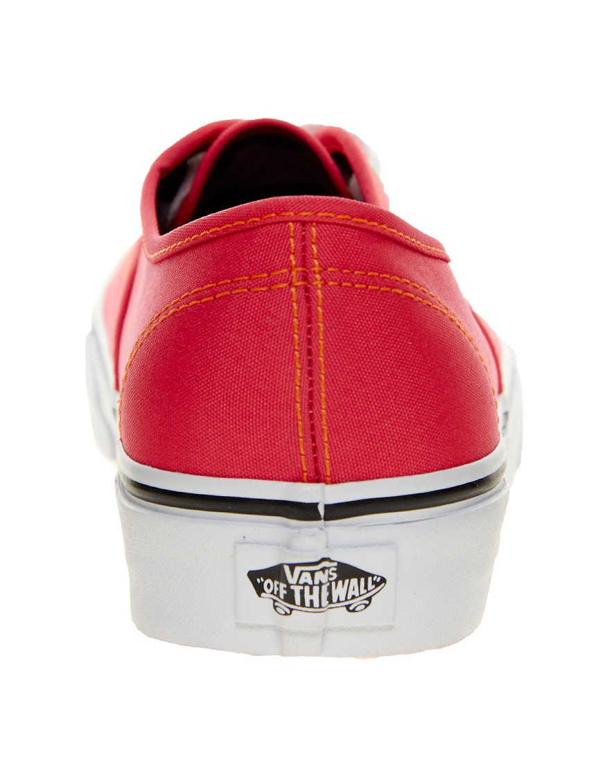Image 4 of Vans Authentic Neon Red Trainers