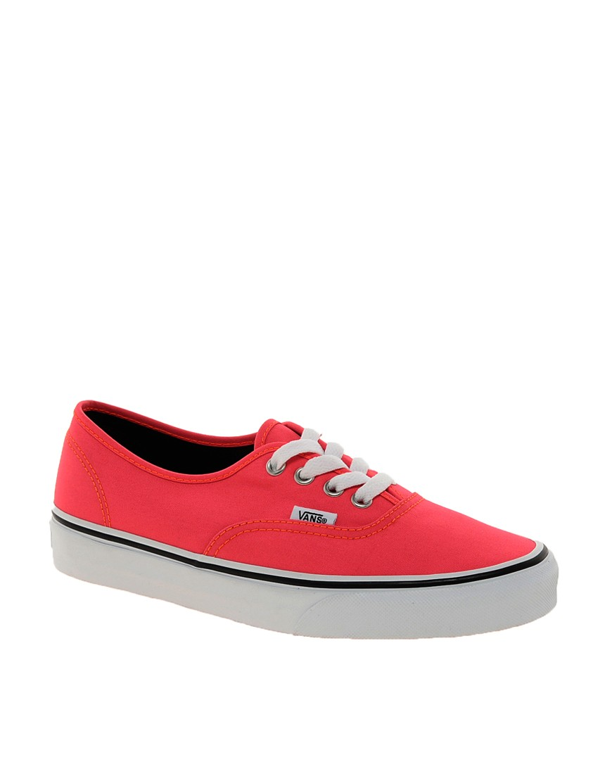 Image 1 of Vans Authentic Neon Red Trainers