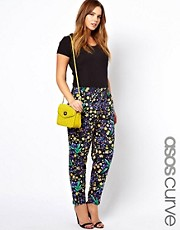 ASOS CURVE Peg Trouser In Floral Print