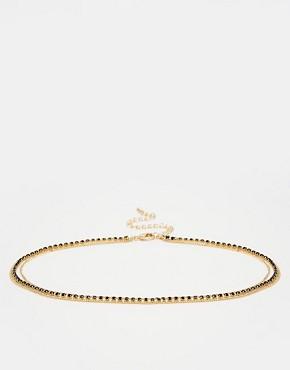 ASOS Multirow Diamante Choker Necklace