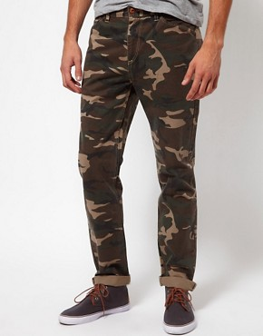 Image 1 ofASOS Slim Chino In Camo