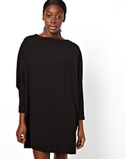 ASOS Shift Dress With Batwing Sleeve