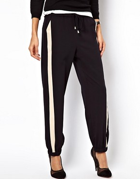 Image 4 ofASOS PETITE Exclusive Contrast Detail Cuffed Trousers