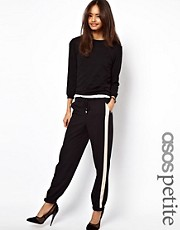ASOS PETITE Exclusive Contrast Detail Cuffed Pants