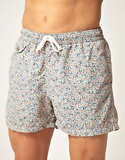 Hartford Liberty Print Swim Shorts