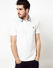 Polo Ralph Lauren Polo Shirt In White With Shirt Collar