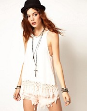 Somedays Lovin Give Me One Reason Top With Tassel Fringe