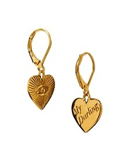 Pendientes largos de corazn My Darling de Zoe & Morgan