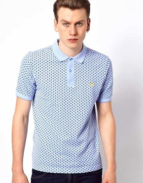 Image 1 ofFred Perry Slim Polo with Paisley Print