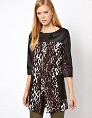 Karen Millen  Mantel mit Leopardenmuster