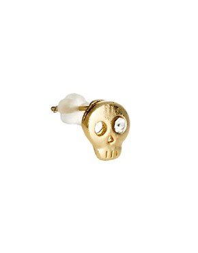 Image 3 ofLimited Edition Skull &amp; Stone Earrings