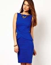 Vesper Pencil Dress with Peplum Skirt