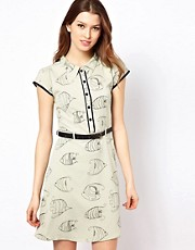 Yumi Fishes Dress With Belt