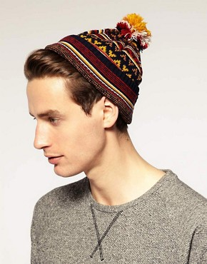 Image 2 ofASOS Fairisle Bobble Beanie