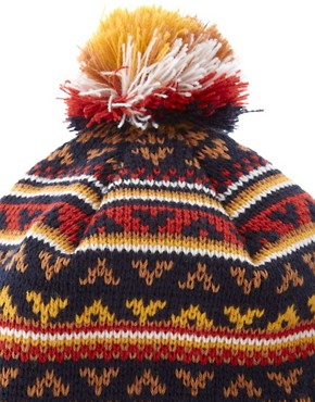 Image 3 ofASOS Fairisle Bobble Beanie