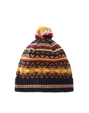 Image 1 ofASOS Fairisle Bobble Beanie