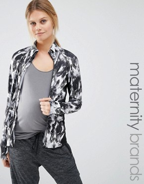 Mamalicious Lounge Printed Zip Up Jacket