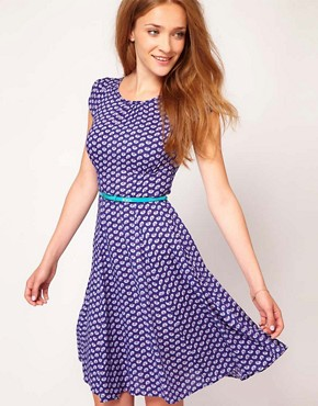 Image 1 ofWarehouse Deco Floral Tea Dress