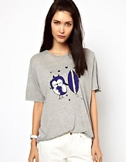 Lulu & Co  T-Shirt mit Surfer-Eule