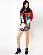 Ostwald Helgason Printed Shorts with Corduroy Panels
