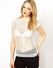 Karen Millen Broderie Top