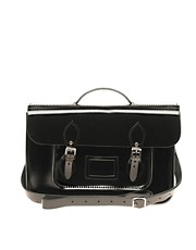 "Cambridge Satchel Company Black Patent Leather 15"" Exclusive To ASOS Batchel"