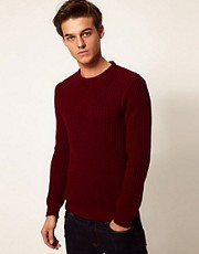 ASOS Ribbed Crew Sweater