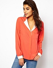 ASOS Blouse With Drop Collar