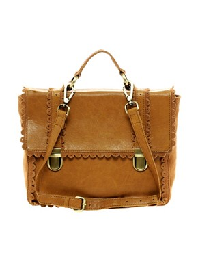 ASOS Leather Scallop Edge Satchel 