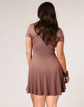 Image 2 ofASOS CURVE Waisted T-Shirt Dress
