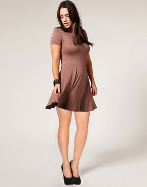 Image 4 ofASOS CURVE Waisted T-Shirt Dress
