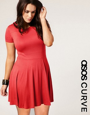 Image 1 ofASOS CURVE Waisted T-Shirt Dress