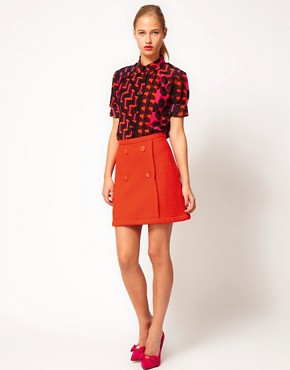 Image 1 of M Missoni Structured Jersey Mini Skirt