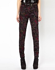 Tripp NYC High Waist Paisley Skinny Jeans