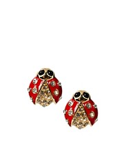 Kenneth Jay Lane Ladybug Earrings