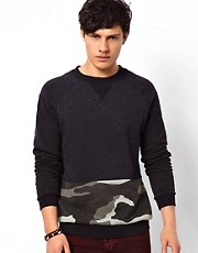 Blood Brother Jumper with Camo Print