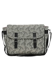 Kate Sheridan Bat Print Satchel