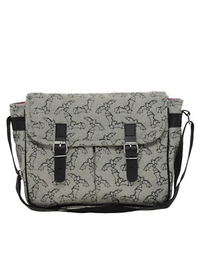 Image 1 of Kate Sheridan Bat Print Satchel