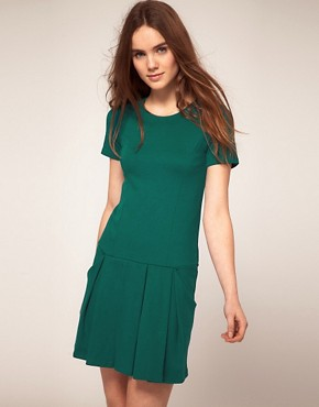 Image 1 ofWarehouse Drop Waist Dress