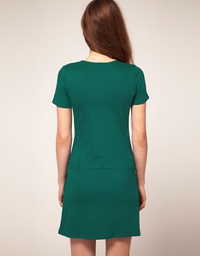 Image 2 ofWarehouse Drop Waist Dress