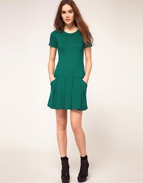Image 4 ofWarehouse Drop Waist Dress