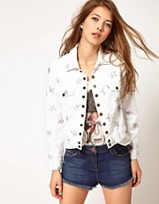 Current/Elliot Star Print Denim Jacket