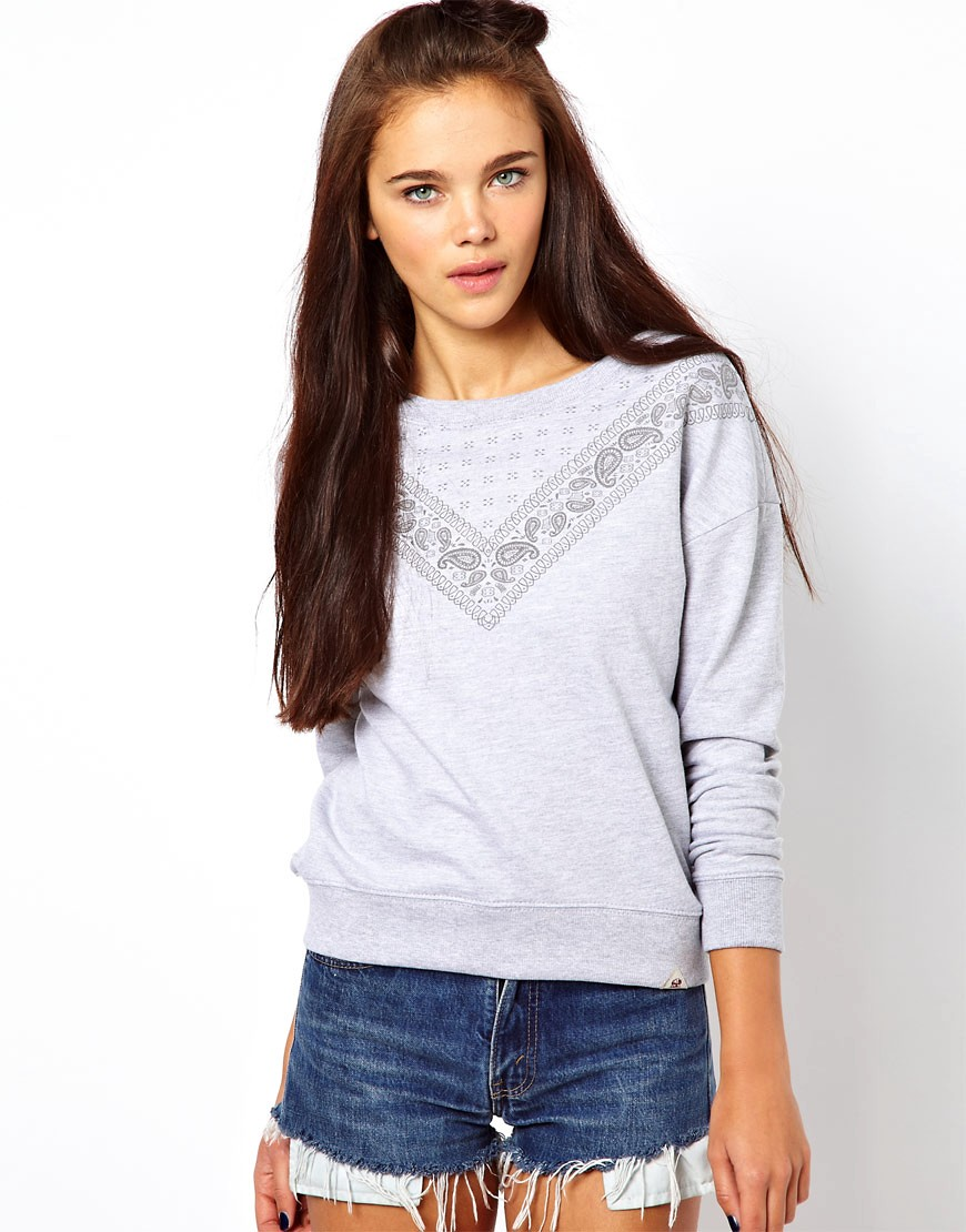 Bellfield Bandana Print Sweatshirt