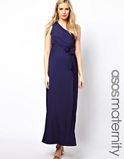ASOS Maternity  Exklusives Maxikleid im One-Shoulder-Stil