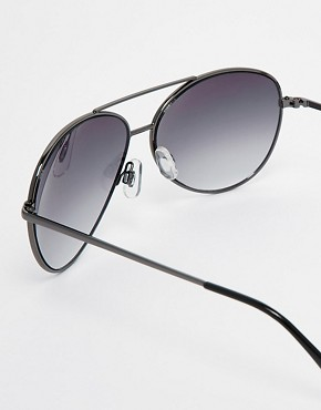 Image 4 ofASOS Silver Aviators