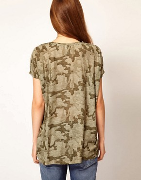 Image 2 ofVila Camo Slouch T-Shirt