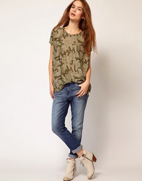 Image 4 ofVila Camo Slouch T-Shirt